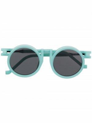 Солнцезащитные очки в круглой оправе VAVA Eyewear. Цвет: синий