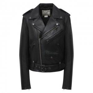 Кожаная куртка Polo Ralph Lauren. Цвет: чёрный