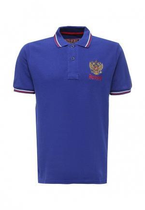 Поло Atributika & Club™ Россия. Цвет: синий