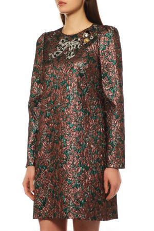Платье Dolce&Gabbana. Цвет: коричневый, зелёный