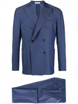 Костюм-двойка K-Suit с двубортным пиджаком Boglioli. Цвет: синий