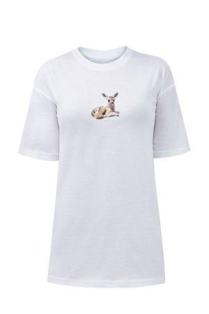 Хлопковая футболка с принтом в виде открытки BURBERRY. Цвет: белый