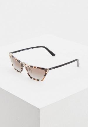 Очки солнцезащитные Prada PR 19US 3980A7. Цвет: черный