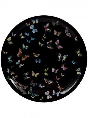 Поднос с бабочками Fornasetti. Цвет: черный