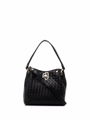 Embossed-pattern tote bag LIU JO. Цвет: черный