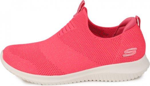 Слипоны женские Ultra Flex, размер 37 Skechers. Цвет: красный