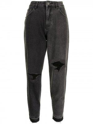 Зауженные джинсы с завышенной талией PortsPURE. Цвет: черный
