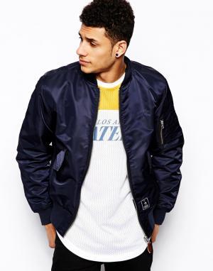 Куртка-пилот Criminal Damage. Цвет: темно-синий