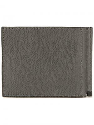 Foldover cardholder Valextra. Цвет: серый