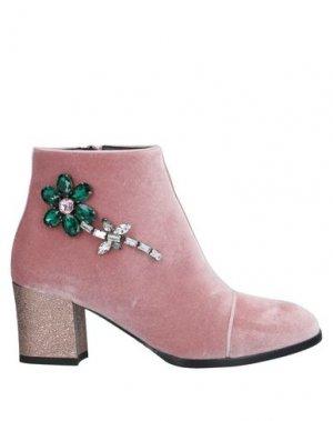 Полусапоги и высокие ботинки ALBERTO GOZZI. Цвет: пастельно-розовый