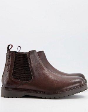 Коричневые кожаные ботинки челси Аnvil-Коричневый цвет Base London