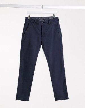 Темно-синие узкие брюки чиносы Levis-Темно-синий Levi's