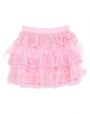Мини-юбка ANIYE BY. Цвет: розовый