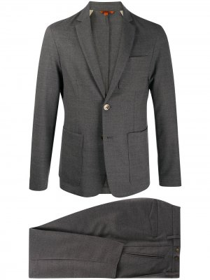 Строгий костюм с однобортным пиджаком Barena. Цвет: серый