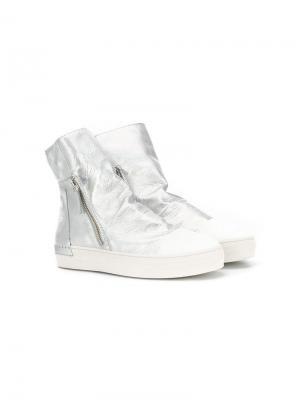 Высокие кроссовки на молнии Cinzia Araia Kids. Цвет: серый