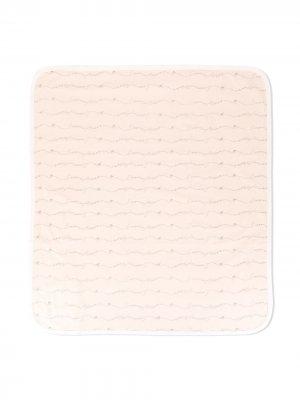 Одеяло с логотипом Emporio Armani Kids. Цвет: розовый