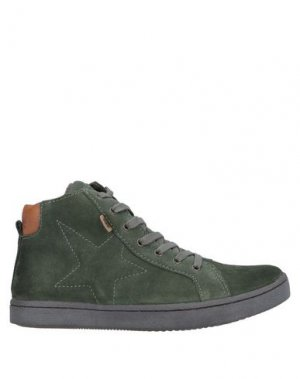 Высокие кеды и кроссовки BISGAARD. Цвет: зеленый-милитари