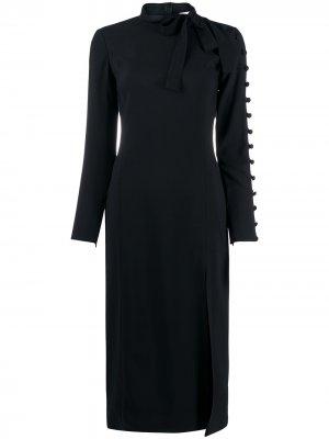 Декорированное платье миди RedValentino. Цвет: черный