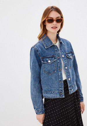 Куртка джинсовая b.young. Цвет: синий