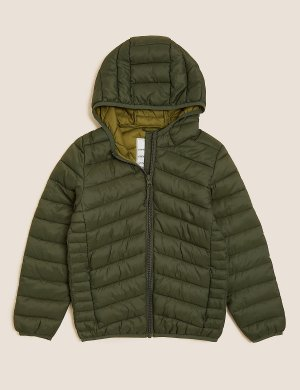 Утепленная куртка Stormwear ™ Marks & Spencer. Цвет: хаки микс