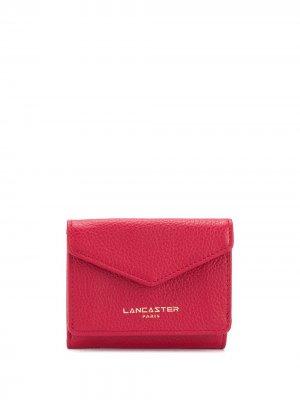 Компактный кошелек с логотипом Lancaster. Цвет: красный