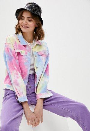 Куртка джинсовая Fadas. Цвет: разноцветный