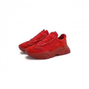 Комбинированные кроссовки Daymaster Dolce & Gabbana. Цвет: красный