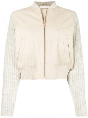 Куртка-бомбер с трикотажными рукавами See By Chloé