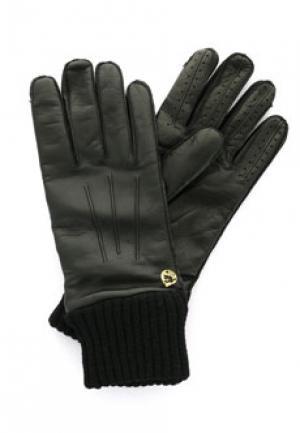 Перчатки VERSACE COLLECTION. Цвет: черный