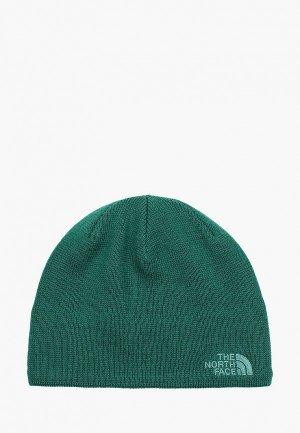 Шапка The North Face JIM BEANIE. Цвет: зеленый