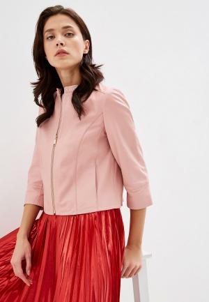 Куртка кожаная Max&Co DENOTARE. Цвет: розовый