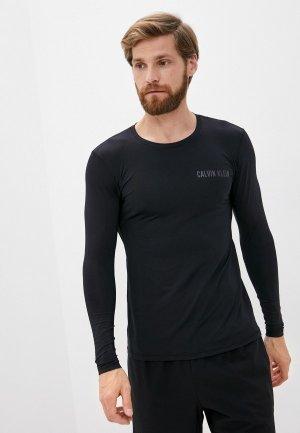Лонгслив спортивный Calvin Klein Performance. Цвет: черный