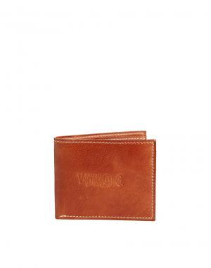 Кожаный бумажник Chester Jack & Jones. Цвет: рыжий