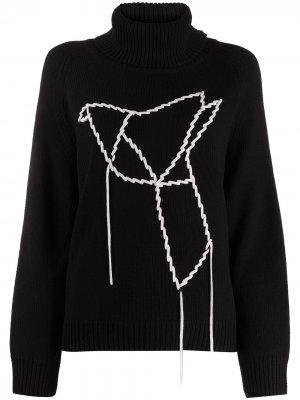 Водолазка с вышивкой Sminfinity. Цвет: черный