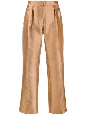 Укороченные брюки Max Mara. Цвет: нейтральные цвета