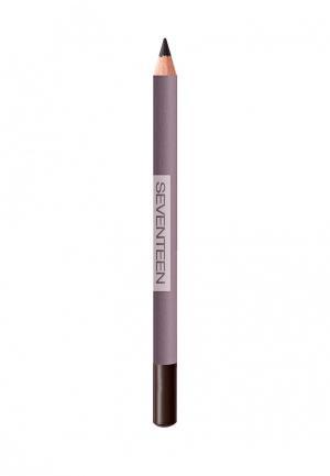 Карандаш для глаз Seventeen устойчивый т.34 LONGSTAY EYE SHAPER тёмно-коричневый. Цвет: коричневый