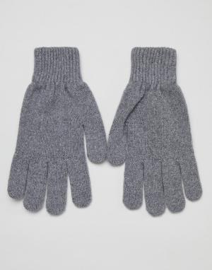 Серые кашемировые перчатки Paul Smith. Цвет: серый