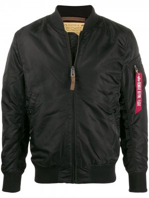 Бомбер MA-1 Flight Alpha Industries. Цвет: черный