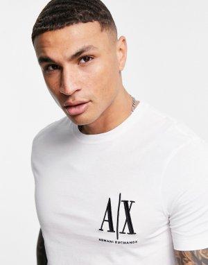 Белая футболка с маленьким логотипом -Белый Armani Exchange