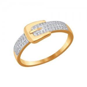 Кольцо из золота «Ремень» SOKOLOV
