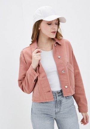 Куртка джинсовая Topshop. Цвет: коралловый