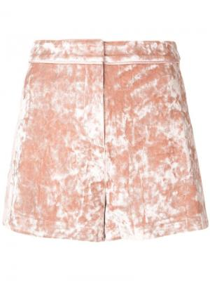 Фактурный твидовые шорты Alexis. Цвет: розовый