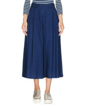 Джинсовые брюки-капри MARANI JEANS. Цвет: синий