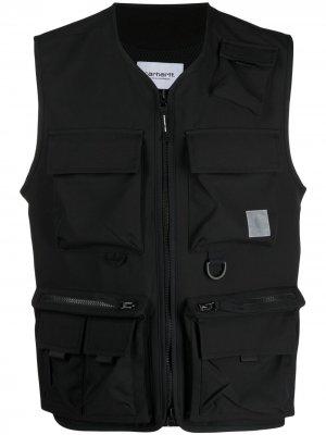 Жилет на молнии с накладными карманами Carhartt WIP. Цвет: черный