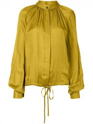 Блузка с кулиской и длинными рукавами Ann Demeulemeester. Цвет: желтый