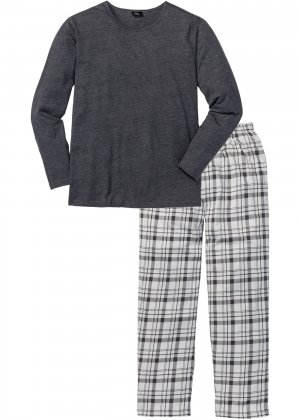 Пижама bonprix. Цвет: серый