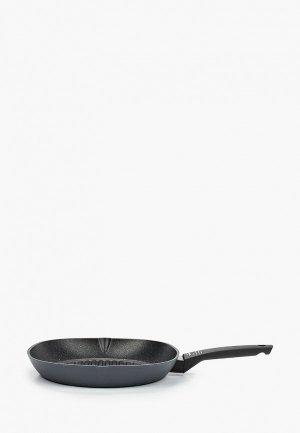 Сковорода Moneta -гриль, Yes, 28 см. Цвет: серый