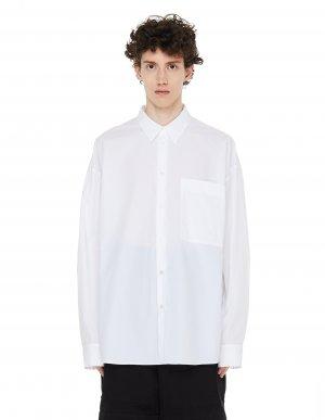 Белая рубашка с нагрудным карманом Ann Demeulemeester