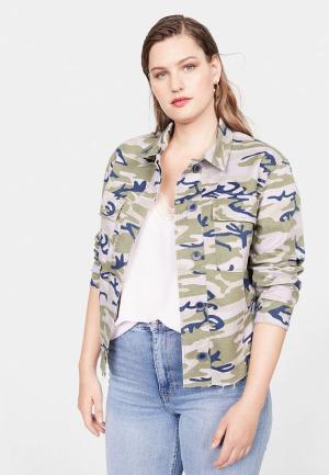 Куртка джинсовая Violeta by Mango - KAM. Цвет: хаки