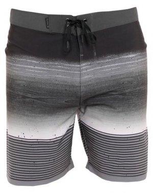Пляжные брюки и шорты HURLEY. Цвет: свинцово-серый